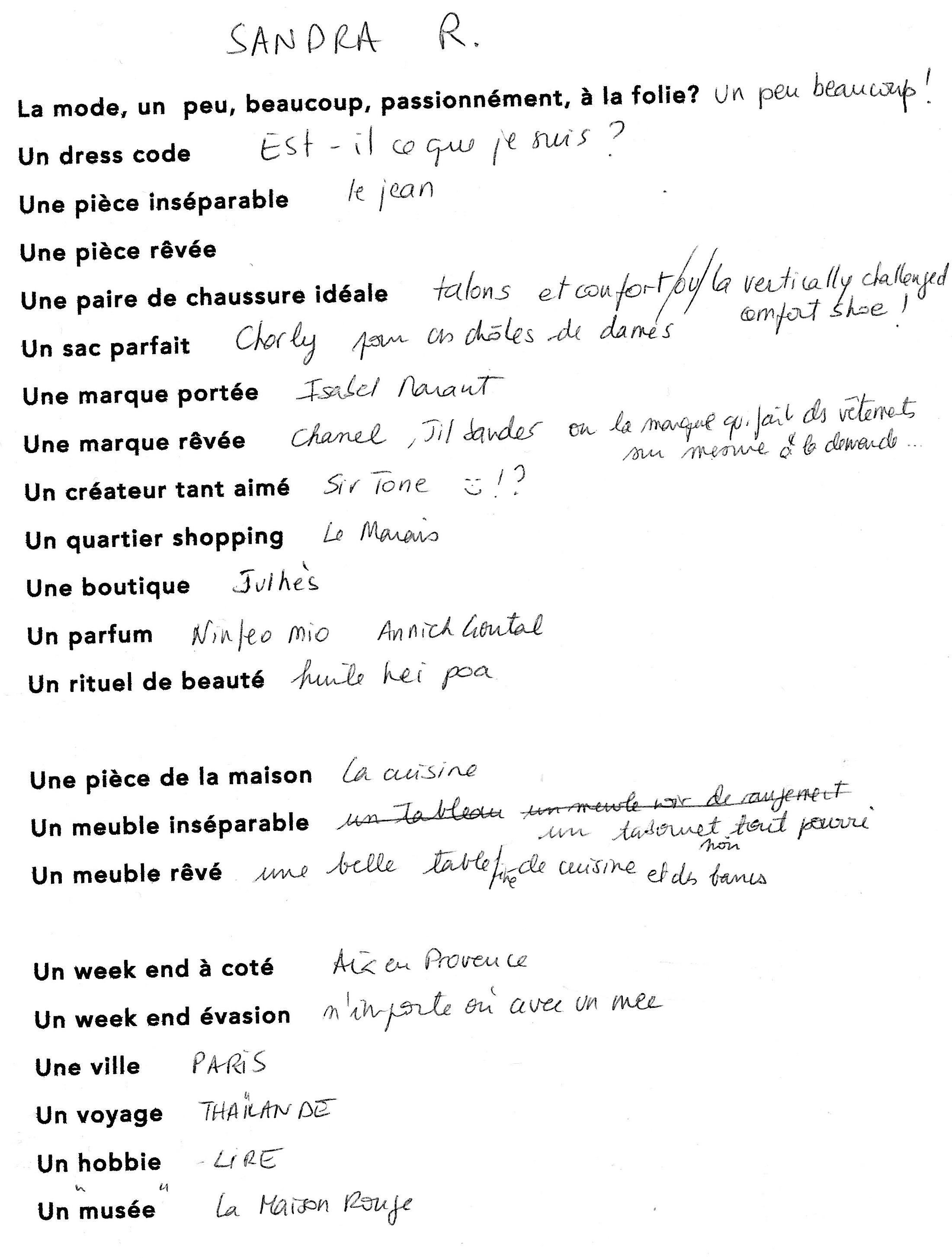 questionnaire Marion1