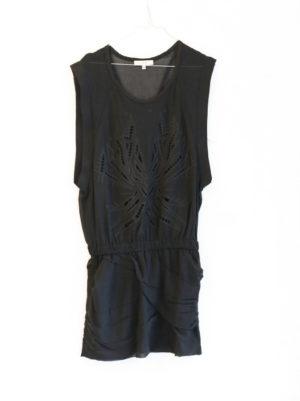 IRO robe noir brodée T38 - 30€