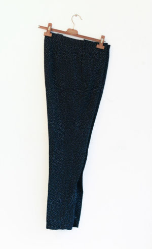 H&M pantalon noir pailetté bleu T40 - 15€
