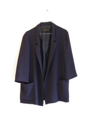 ZARA veste bleu marine crepe - T40 - 15€