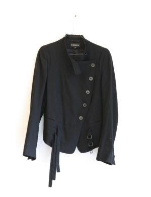 ANN DEMEULEMEESTER veste noir officier T40 - 70€